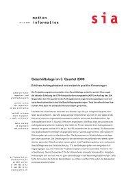 medien information - Schweizer Bauwirtschaft