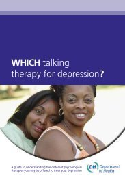 WHICH talking therapy for depression? - IAPT