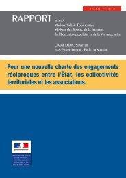 Pour une nouvelle charte des engagements réciproques entre l'Etat ...