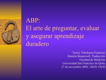 ABP: El arte de preguntar, evaluar y asegurar aprendizaje duradero