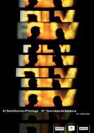 Programm Filmtage als PDF - Schweizer Filmakademie