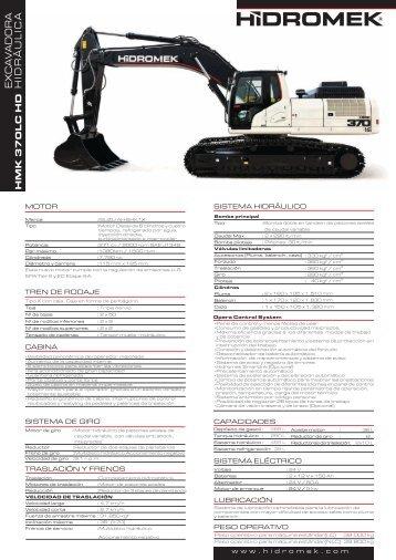 370 LC HD Gen de la serie - Español Manual del producto - Hidromek