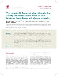 The combined influence of leisure-time physical activity and weekly ...