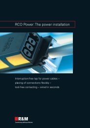 RCO Power: The power installation - R&M