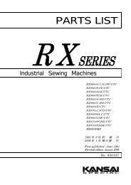 Parts book for Kansai RX UTC