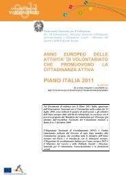 Sintesi Piano ONC Italia 2011 - Destinazione Europa