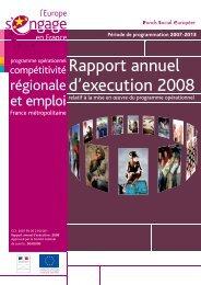 Le rapport annuel d'exécution - Fonds Social Européen en France