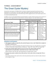 The Great Oyster Mystery - Estuaries NOAA