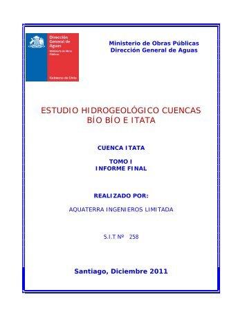 estudio hidrogeológico cuencas bío bío e itata - Dirección de ...