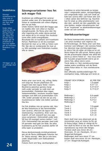 Säsongsvariationer och storlekssortering - Svensk Fisk