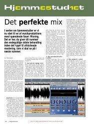 Det perfekte mix - Soundcheck