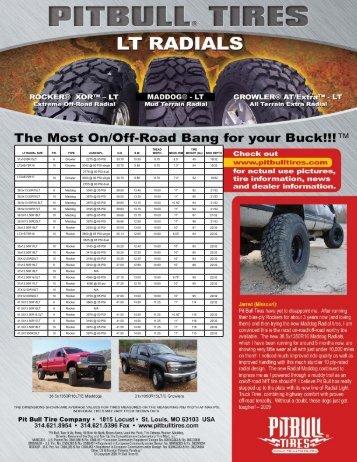 Tire Specs - Pit Bull Tires