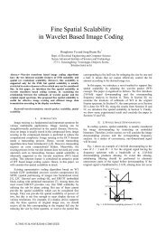 Fine Spatial Scalability in Wavelet Based Image Coding - isl, ee, kaist