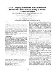 Cross-Language Information Retrieval based on Parallel ... - CiteSeer