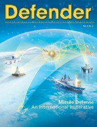 Defender. Missile Defense -  A International Imperative ... - Raytheon