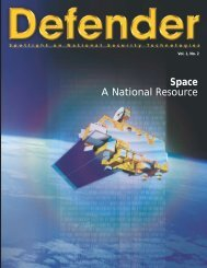 Defender - Space - A National Resource - Raytheon