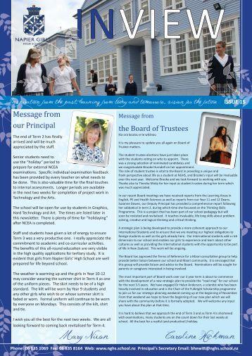 Issue 15 28-September 2012 - Napier Girls' High School