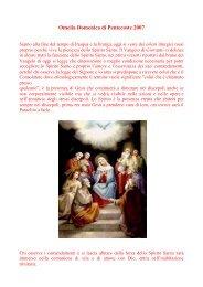 Omelia Domenica di Pentecoste 2007 - Cuore e Mani Aperte