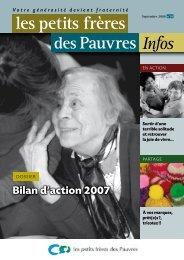 les petits frères des Pauvres Infos n°10 - septembre 2008
