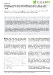 influence of conservation tillage and soil water ... - SciELO Chile