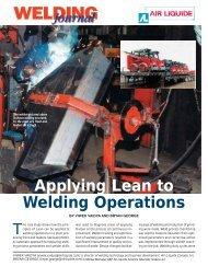 Applying Lean to Welding Operations - GAWDAwiki
