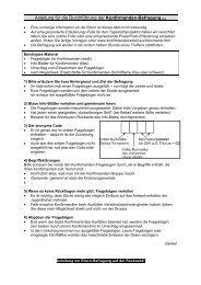 Anleitung für die Befragungsaktion in der Konfirmandengruppe