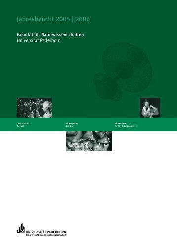 Jahresbericht 2005 | 2006 - Fakultät für Naturwissenschaften ...