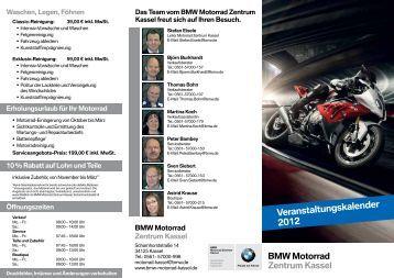 Veranstaltungskalender 2012 - BMW Motorrad