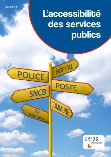 11-04-2013 : L'accessibilité des services publics - Crioc