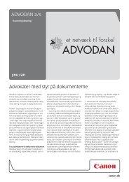 ADVODAN a/s Advokater med styr på dokumenterne - Canon