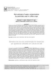 Risk estimate of water contamination by pesticides used in ... - SciELO