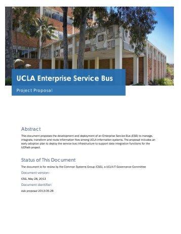 UCLA Enterprise Service Bus - CITI