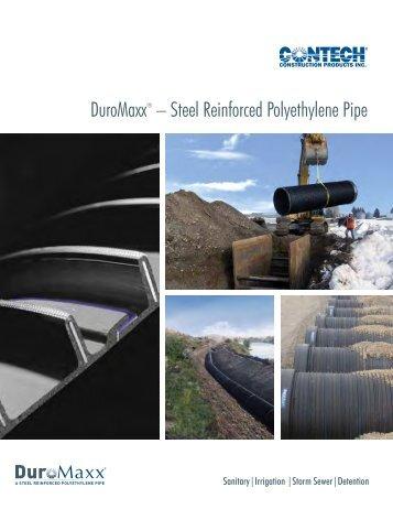 DuroMaxx® – Steel Reinforced Polyethylene Pipe - Armtec