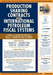production sharing contracts international petroleum fiscal systems