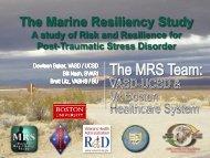 The Trajectory of PTSD Symptoms in Deployed Marines - VA Boston ...