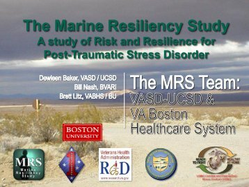 The Trajectory of PTSD Symptoms in Deployed Marines - VA Boston ...