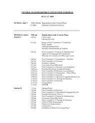 Schedule - Central Illinois District - Lutheran Church Missouri Synod