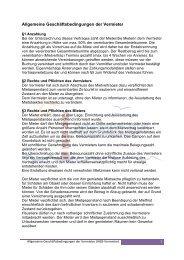 Allgemeine Geschäftsbedingungen der Vermieter - Ameland