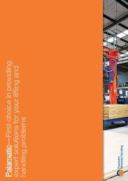 Materials Handling Range Brochure - Palamatic
