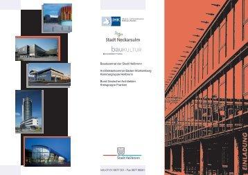 Programm - Bundesstiftung Baukultur