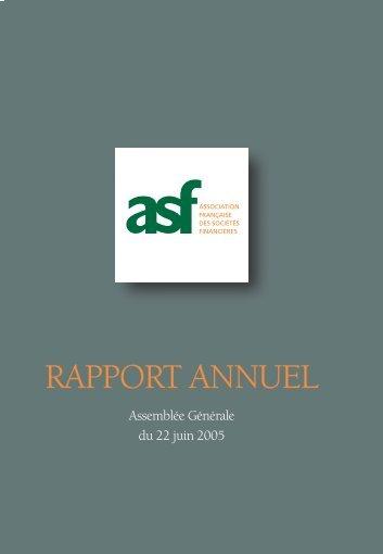 2004 Le rapport annuel de l'ASF