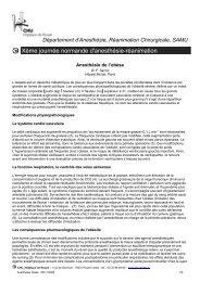 Anesthésie de l'obèse - CHU de Rouen