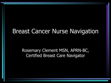 Breast Cancer Nurse Navigation - Breast Health Global Initiative