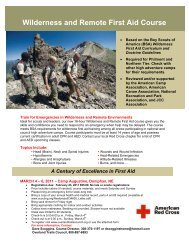 Wilderness and Remote First Aid Course - Overland Trails Council