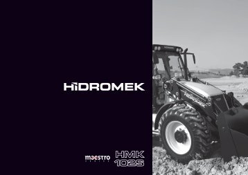 102 S Maestro série - Français Catalogue - Hidromek