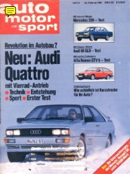 Auto Motor und Sport (D), 1981 - GTV6 et 156 GTA