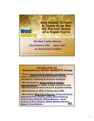 Russ Taylor - MLB HANDOUT - Maritime Lumber Bureau