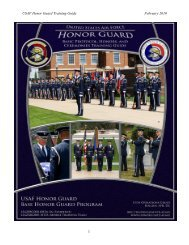 USAF Honor Guard Training Guide February 2010 1 - United States ...