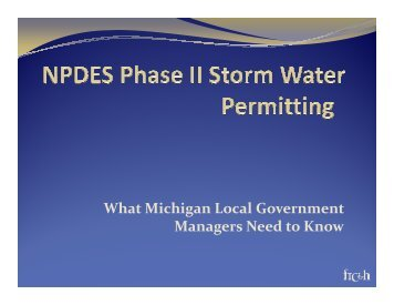 Storm Water Permitting - Michigan Local Government Management ...