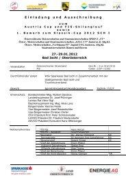 EINLADUNG UND AUSSCHREIBUNG - ALGE Timing Pflanzl